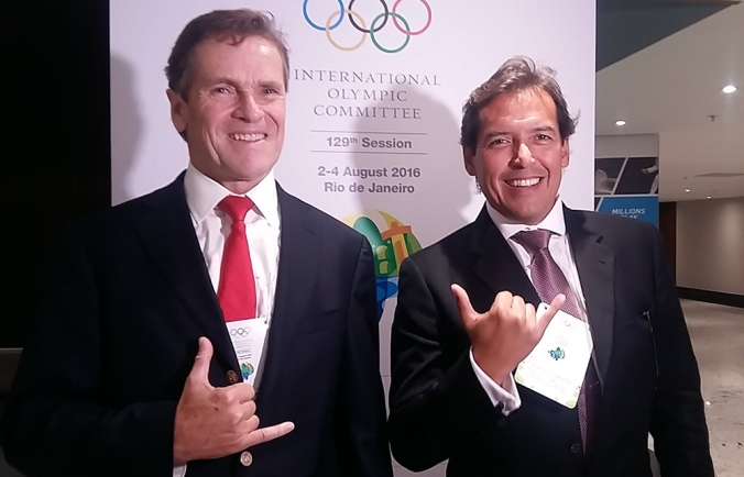 Carlos Neuhaus (Presidente FENTA) y Karin Sierralta (Vice-Presidente ISA) - Foto de Majo Fermi